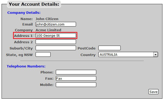 How do I update the details of my online account? - Powered by ... Po Box Online on k letter box, post box, thought box, bb box, ac box,